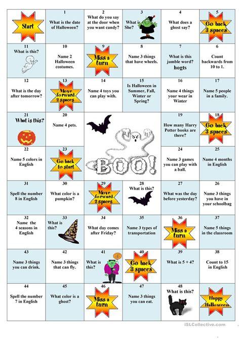 printable halloween board games halloween board game worksheet free esl printable