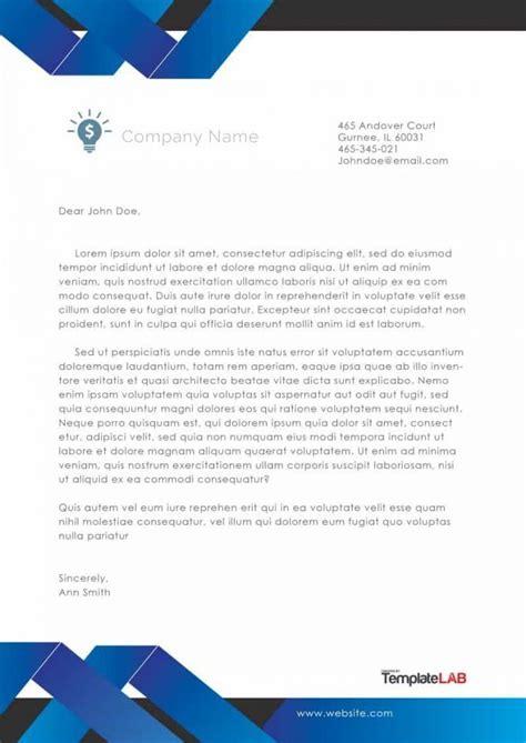 company letterhead template templatelab exclusive