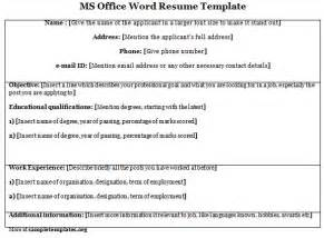 Microsoft Office Resume Templates 2011 by Word Template For Ms Office Resume Template Of Ms Office Word Resume Sle Templates