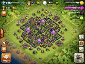 Best town hall 9 trophy war bases clash of clans layouts