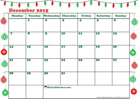 free printable holiday planner 2015 merry december 2015 calendar christmas templates