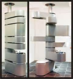 vertebrae rotating compact all in one bathroom unit