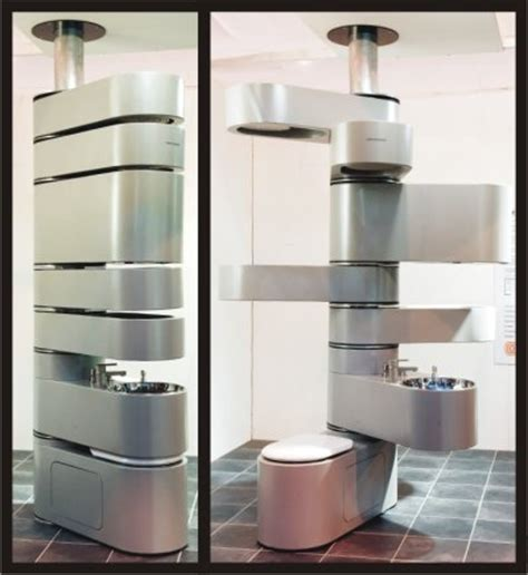 Vertebrae rotating compact all in one bathroom unit craziest gadgets