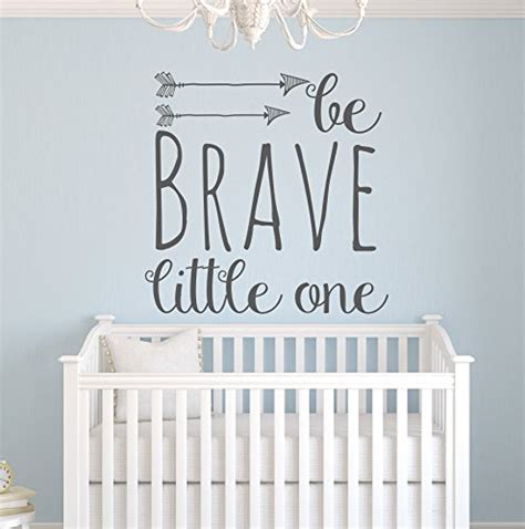 Nursery Wall Decals Quotes Pinkie Penguin Wall Decor Be Brave One Wall Decal Quote Nursery Wall Decals Arrow