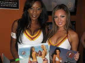 As they do each spring the washington redskins cheerleaders traveled