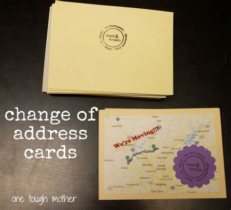 free change address cards templates 14 best moving announcements new address postcard