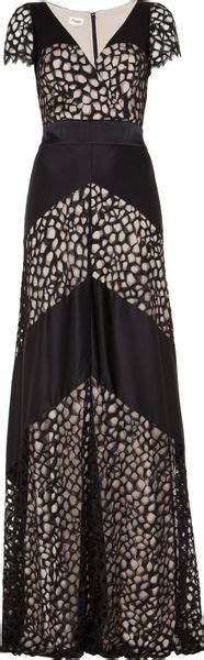 Dress White Tile Lace temperley graphic tile lace vneck dress in