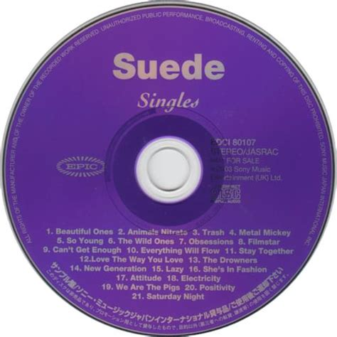 Cd Suede A New Morning suede singles japanese promo cd album cdlp 281562