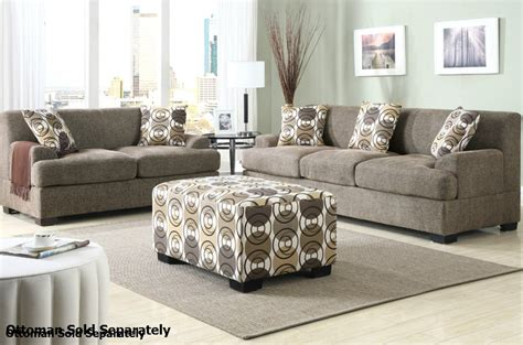 Sofa Loveseat Set by Poundex Montreal F7450 F7449 Beige Fabric Sofa And