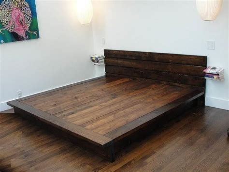 King Size Floor Bed Frame 25 Best Ideas About Diy Bed Frame On Bed