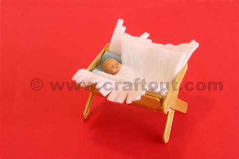 How To Make A Baby Out Of Paper - baby crib craft out