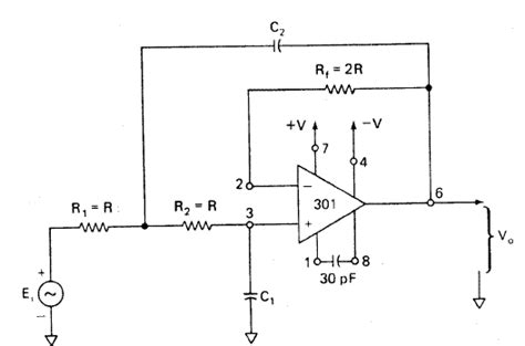 capacitor filter cutoff frequency voltage gain and cutoff frequency of the low pass filter