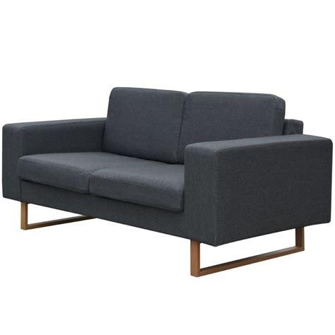 divano grigio scuro vidaxl divano 2 posti in tessuto grigio scuro vidaxl it