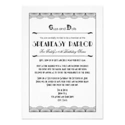 roaring 20 s speakeasy theme invitations 5 quot x 7 quot invitation card zazzle