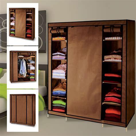 armoir rangement armoire de rangement chocolat dressing penderie tissu meubles