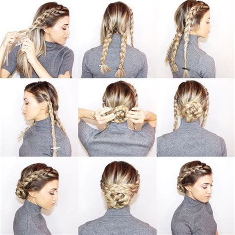 easy braided hairstyles ideas  pinterest