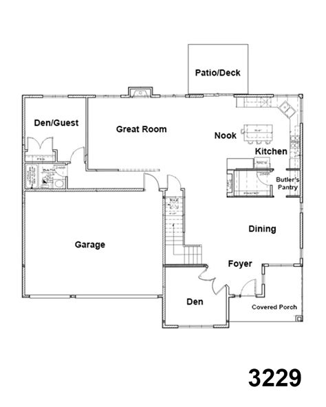 dining room floor plans 3229 floorplan