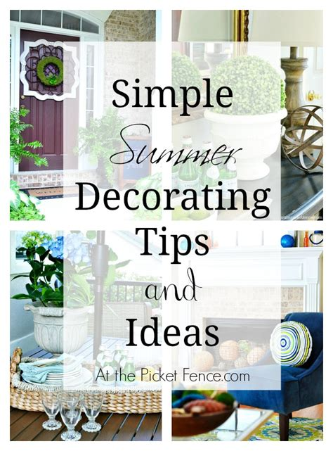 summer decorating ideas easy breezy summer decorating ideas at the picket fence