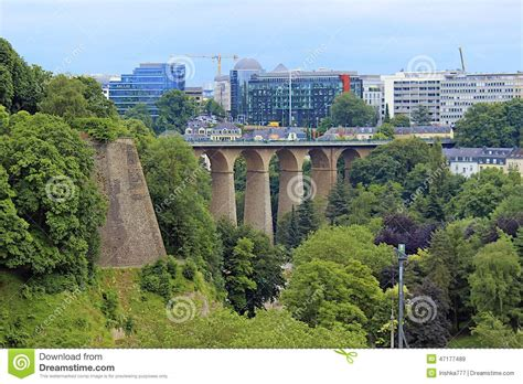 Lu City Z panorama of luxembourg city editorial photo