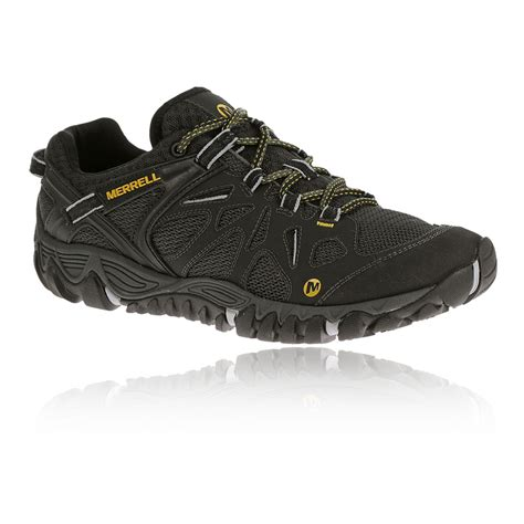 merrell sports shoes merrell all out blaze aero mens black sports walking