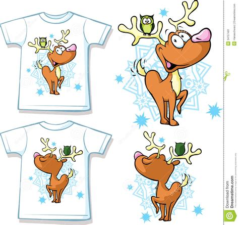 design photo cartoon reindeer t shirts stock image image of back christmas