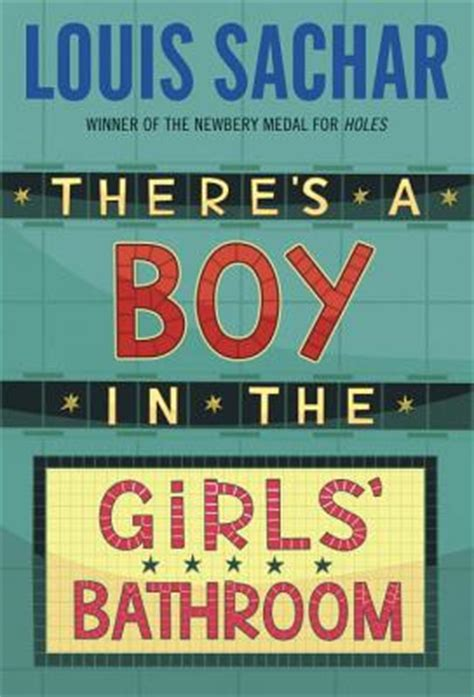 there is a boy in the girls bathroom crowding the book truck there s a boy in the girls