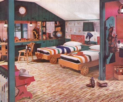 1950s bedroom boys bedroom 1952 armstrong linoleum floor 1950 s