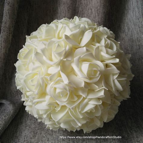 Wedding Balls by Ivory 9 Pomanders Flower Balls For Wedding