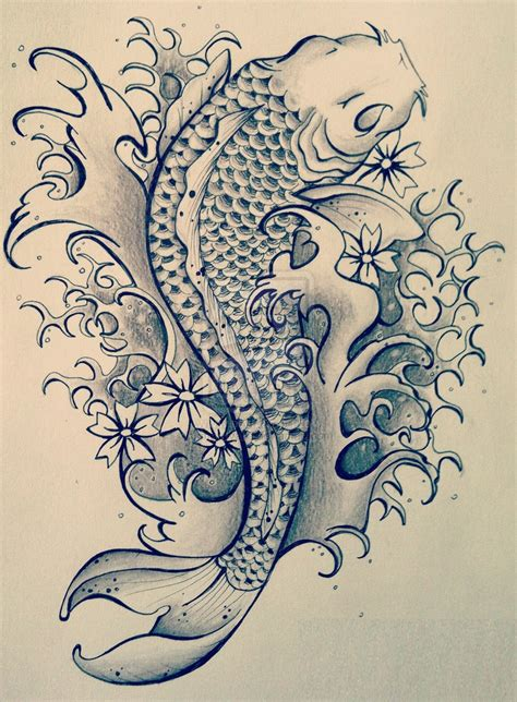 koi fish tattoo outline designs 40 pisces design ideas for and