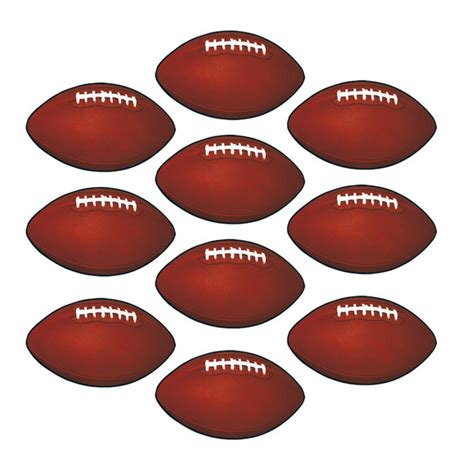 Western Decorations For Home by Mini Football Cutouts 10 Pkg Partycheap