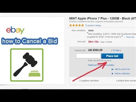 ebay bid how to cancel a bid retract on ebay auction 2017