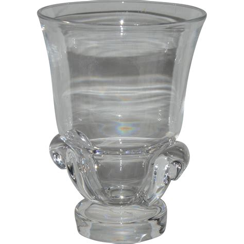 Steuben Vase by Signed Steuben Glass Vase From Hollin Gate On Ruby