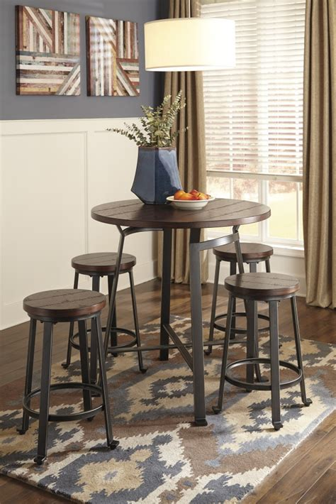 dining room bar table challiman round drm counter table 4 stools d307 124 4