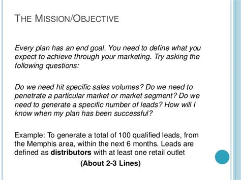 Marketing One Sheet Template by A One Page Marketing Plan Template