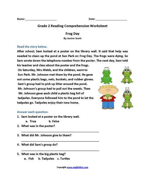 2nd grade reading worksheets reading worksheets second grade reading worksheets