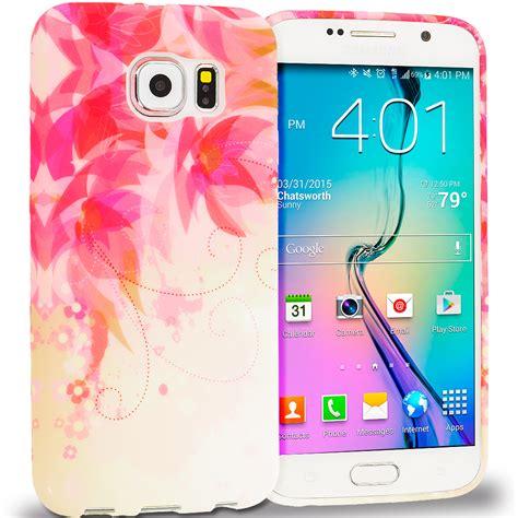 Samsung S6 Edge Soft Flower Rubber Casing Elegan for samsung galaxy s6 edge tpu design rubber soft skin cover accessory ebay