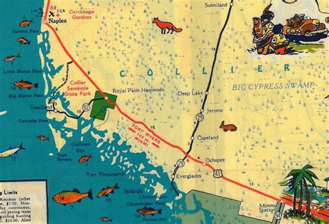 where is ta florida on a map tamiami trail the florida memory