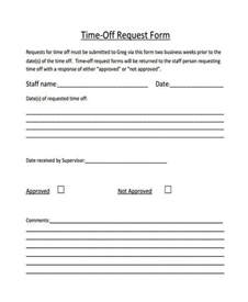 free time off request form student information form