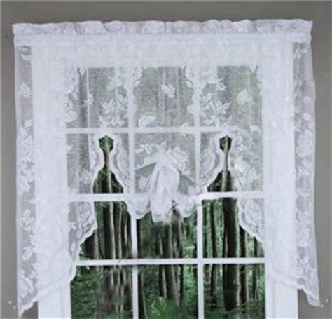 63 swag curtains new abbey rose vintage lace curtains swag valance white 63