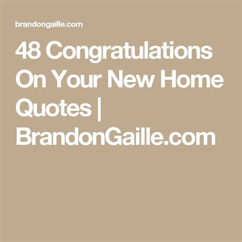 New Home Quotes Sayings