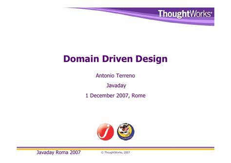 domain driven design tutorial java domain driven design javaday roma2007