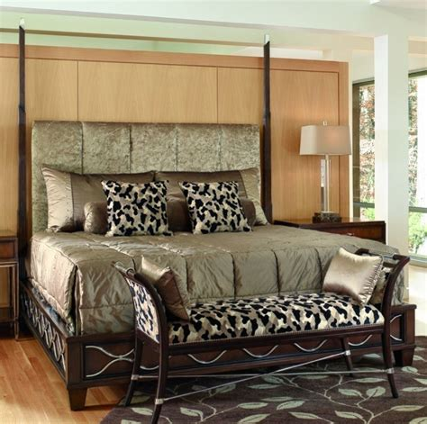 zebra print headboard bed with tufted headboard and animal print accent pillows