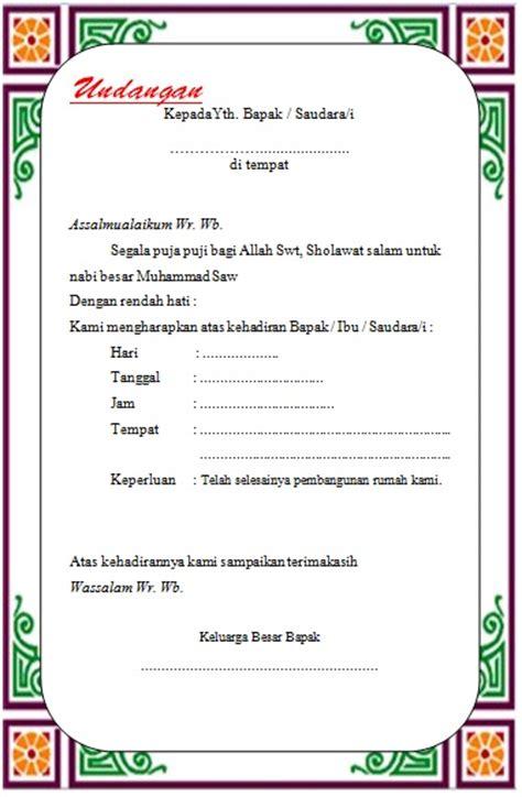 4 contoh model undangan syukuran bisa di edit dan siap print cari tau
