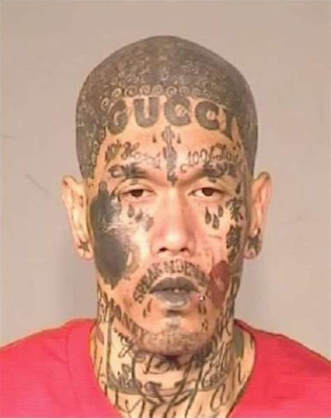 small gang tattoos with untold number of tattoos arrested on gun