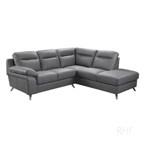 leather l sectional sofa nuvola italian inspired slate grey leather corner sofa l