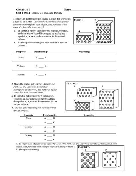 Density Worksheet by Calculating Weights On Planets Worksheet Pics About Space