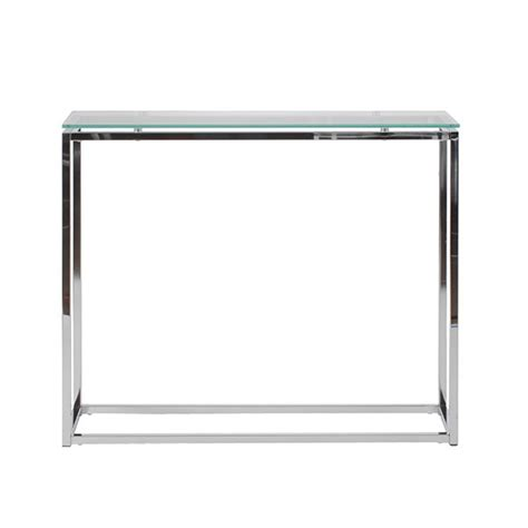 Glass And Chrome Console Table Chrome Glass Console Table Modern Furniture Brickell Collection
