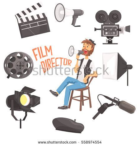 film cartoon free download film director sitting megaphone controlling movie stock