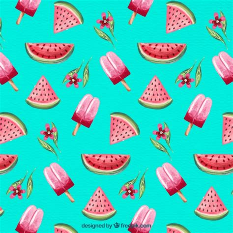 123 pattern v6 download watercolor summer pattern background vector free download