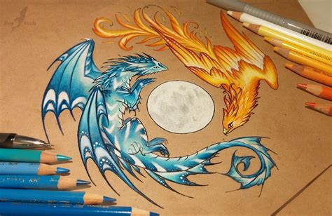 drawing color beautiful artwork only with colored pencils